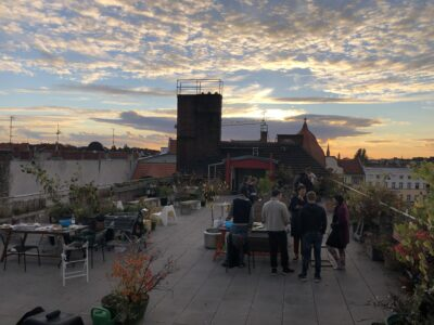 Refugio roof at dawn